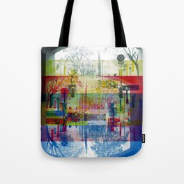 Remembering rushing through but without obstacles. [CMYK] Tote Bag
