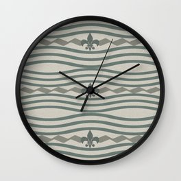 Corduroy Pattern Lines Wall Clock