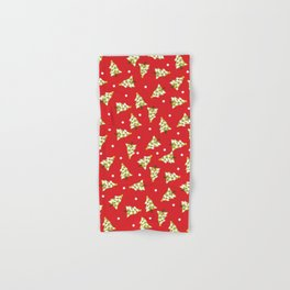 Red Green Modern Christmas Tree Hand & Bath Towel
