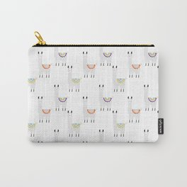 Llama white Carry-All Pouch