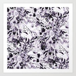 Flower Joy in B+W Art Print