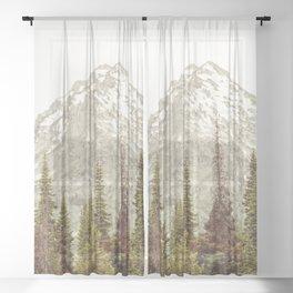 Grand Teton National Park Adventure II - Wanderlust Mountains Sheer Curtain
