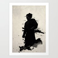samurai Art Prints featuring Samurai by Nicklas Gustafsson