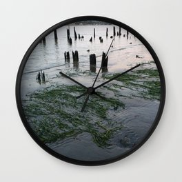 Water plants at low tie Wall Clock