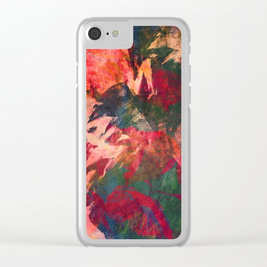 It's Complicated, Abstract Leaves Clear iPhone Case