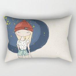 Ange - Fashion illustration Rectangular Pillow