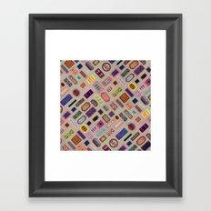 Multi color melody light Framed Art Print
