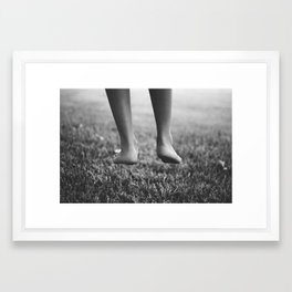 Always one foot on the ground. Framed Art Print