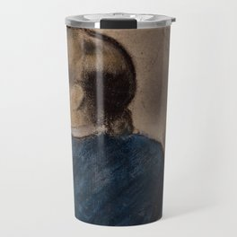 Young Woman in Blue Travel Mug
