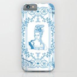 Marie-Antoinette Monogram (Aqua) iPhone Case