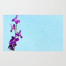 Purple Delphinium Space to Think Rug