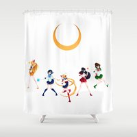 sailor moon Shower Curtains featuring Sailor Moon! by IllustrateKate