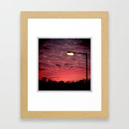 British Winter Sunset Framed Art Print
