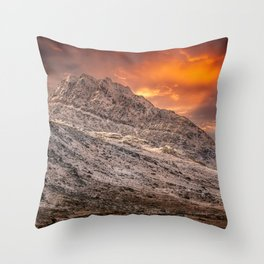 Tryfan mountain East Face Wales Throw Pillow