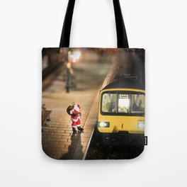 Santa goes to Exmouth Tote Bag
