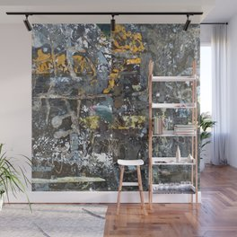Fragmented Thoughts Abstract Painting on Metal Wall Mural