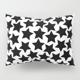 Lots of Black Stars Pillow Sham