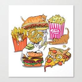 Cats & Junk Food Canvas Print