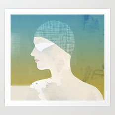 Winter Swim Art Print