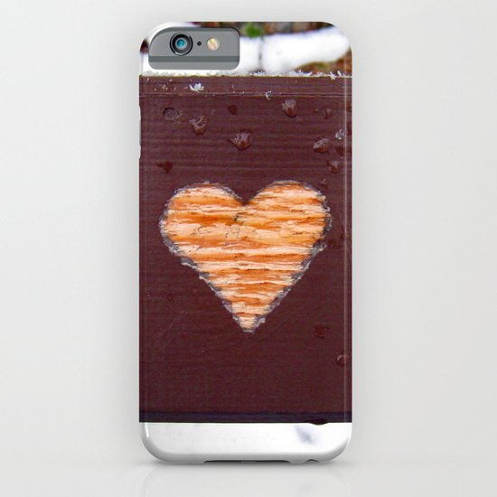 wooden heart. iPhone & iPod Case