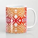 Tribal Tiles II (Red, Orange, Brown) Geometric by aej_design