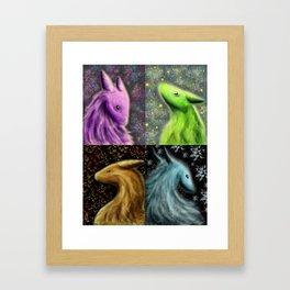 Four Seasons Dragons Framed Art Print