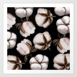 Cotton flower Art Print