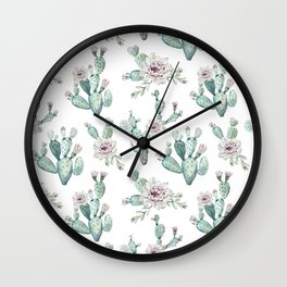 Cactus Pretty Pink + Green Wall Clock