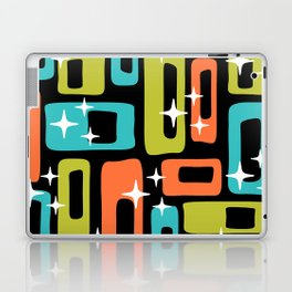Retro Mid Century Modern Abstract Pattern 222 Orange Chartreuse Turquoise Laptop & iPad Skin