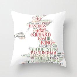 Shakespeare's Richard III  Throw Pillow