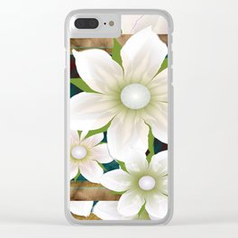 White flowers Clear iPhone Case
