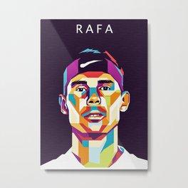 Rafa Nadal Metal Print