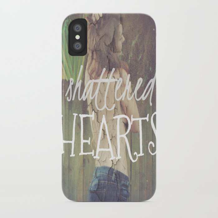 Shattered Hearts Club iPhone Case