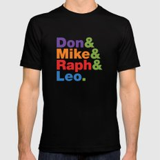 Don & Mike & Raph & Leo. Mens Fitted Tee Black MEDIUM