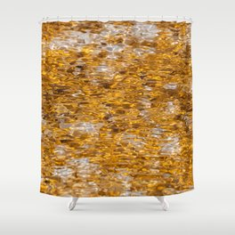 Canary Spring Orange Shower Curtain