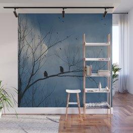 Moody Blue Sky Wall Mural