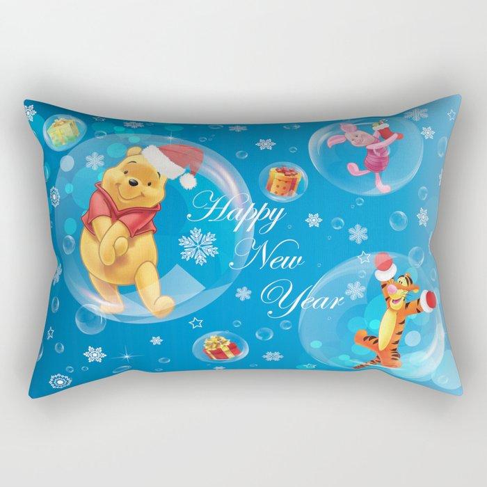 New Year Card Rectangular Pillow