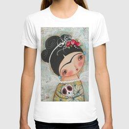 Frida and her sugar skull T-shirt