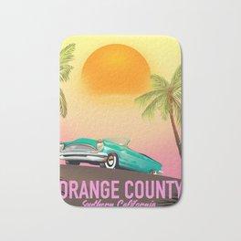 orange county California USA Bath Mat