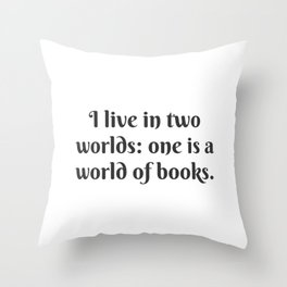 A World of Books Throw Pillow