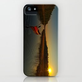 Red Canoe at South River iPhone Case