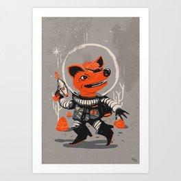 Cpt. Com. Spacecatkilla Art Print