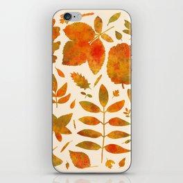 Autumn Leaves Fall iPhone Skin