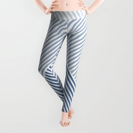 Shades of Blue Abstract geometric pattern Leggings