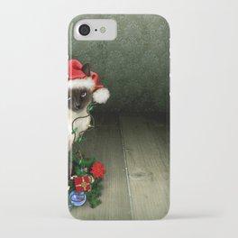 Holiday Christmas Animal Cat Siamese Cat Decoratio iPhone Case
