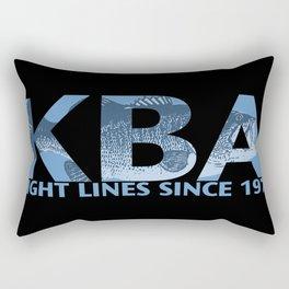 Tight Lines Dark Rectangular Pillow