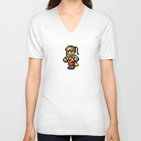 final fantasy V-neck T-shirts featuring Final Fantasy II - Yang by Nerd Stuff