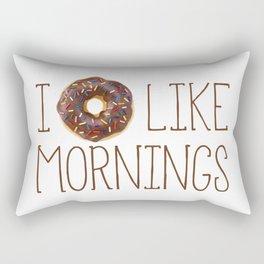 I Donut Like Mornings Rectangular Pillow