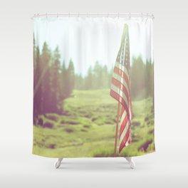 Dreamy American Flag Shower Curtain