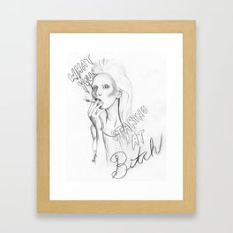 What you looking at... Framed Art Print